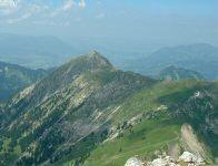 Rotspitze vom Daumen aus