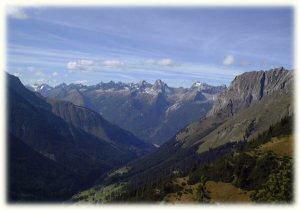 Die Allgäuer Alpen vom Lechtal aus