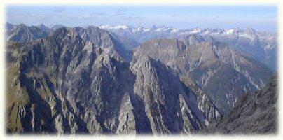 Panorama mit Allgäuer Alpen